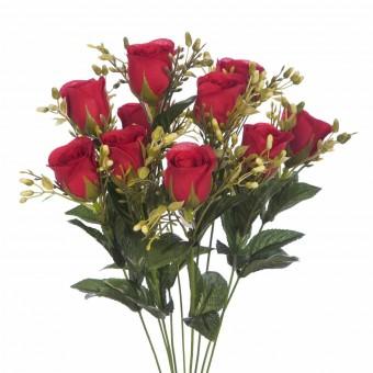 Ramo rosas artificiales rojas 44 · Ramos flores artificiales