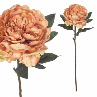 Flor peonia artificial salmón 70 · Flores artificiales 2