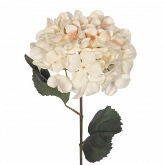 Flor hortensia artificial crema 69 - Flores artificiales