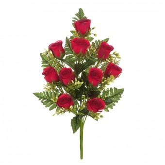 Ramo flores artificiales rosas rojas 41 · Ramos cementerio flores artificiales
