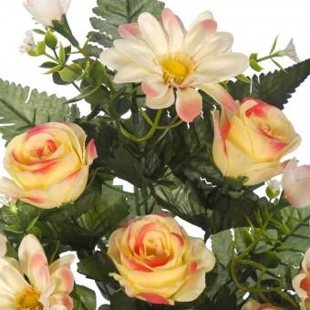 Ramo flores artificiales gerberas y rosas amarillas · Ramos cementerio flores artificiales 3 · La Llimona home