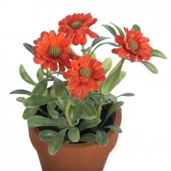 Planta margaritas artificiales mini naranja con maceta · Plantas artificiales 2 · La Llimona home