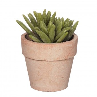 Planta mini cactus artificial con maceta 3903 · Crasas y cactus artificiales 3