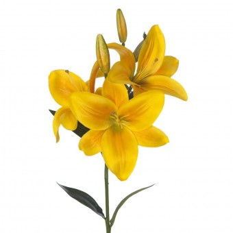 Flor lilium artificial amarillo 71 · Flores artificiales · La Llimona home