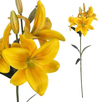 Flor lilium artificial amarillo 71 · Flores artificiales 2 · La Llimona home