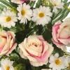 Ramos cementerio flores artificiales. Ramo flores artificiales rosas rosadas y margaritas - Ramos artificiales cementerios y jardineras Todos los Santos 2