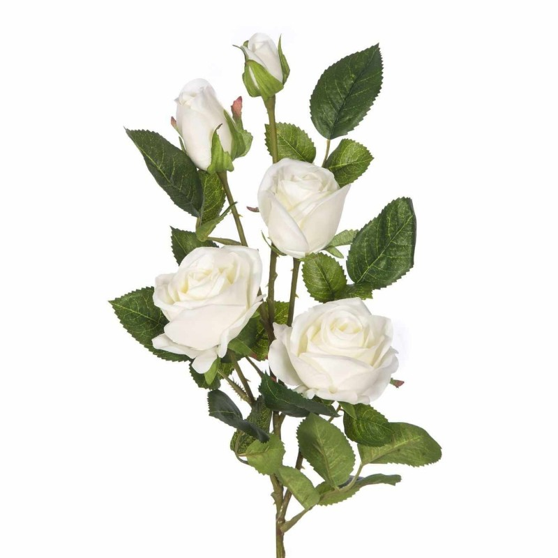 Rama rosa artificial crema 70 · Flores artificiales