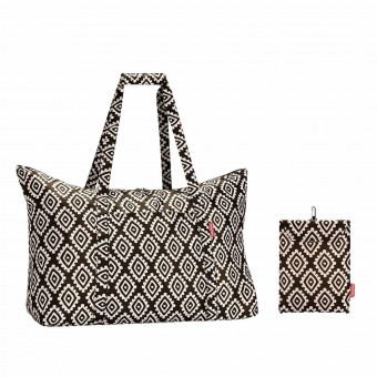 Reisenthel bolsa multiusos mini maxi travelbag diamonds chocolate · Reisenthel · Bolsas y neceseres
