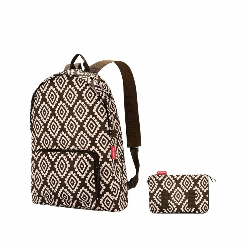 Reisenthel mochila plegable mini maxi diamonds chocolate · Reisenthel · Bolsas y neceseres