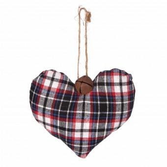 Colgante navidad corazón tartán 13 · Navidad · La Llimona home