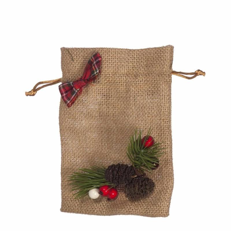 Saco arpillera decorado navidad 17 · Navidad · La Llimona home