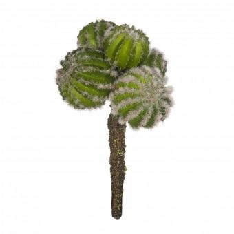 Planta cactus artificial echonocactus grusonii verde · Crasas y cactus artificiales 2
