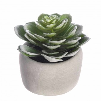 Planta echeveria artificial con maceta · Crasas y cactus artificiales · La Llimona home