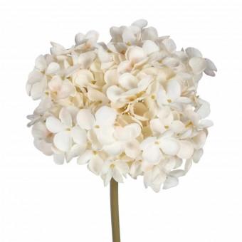 Flor hortensia artificial selene beige · Flores artificiales