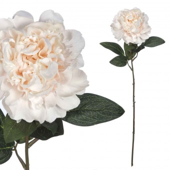 Flor peonia artificial selene crema · La Llimona home