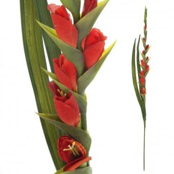 Flor gladiolo artificial rojo · Flores artificiales 2 · La Llimona home