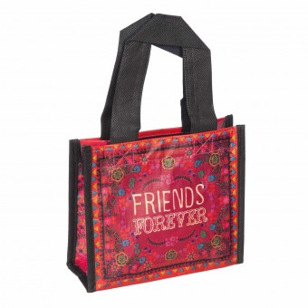 Natural Life bolsa compras mini red 'Friends forever' reutilizable · Natural Life