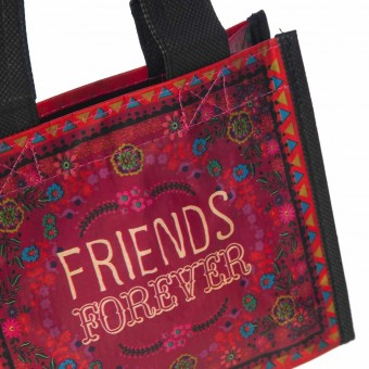 Natural Life bolsa compras mini red 'Friends forever' reutilizable · Natural Life 2
