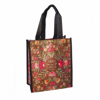 Natural Life bolsa compras mediana 'Thankful and grateful for you' reutilizable - Natural Life