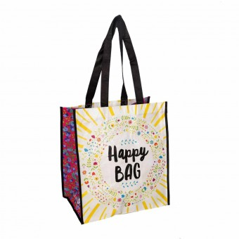 Natural Life bolsa compras grande 'Happy Bag' reutilizable