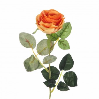Flor rosa artificial naranja · Flores artificiales