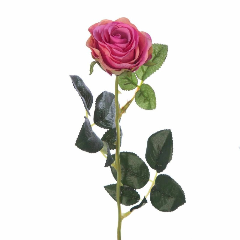 Flor rosa artificial carmín · Flores artificiales