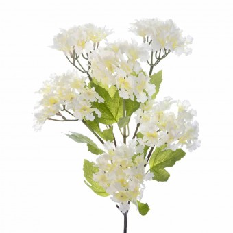 Rama hortensias artificiales blancas · Flores artificiales