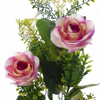 Rama rosas artificiales bicolor - Flores artificiales 2