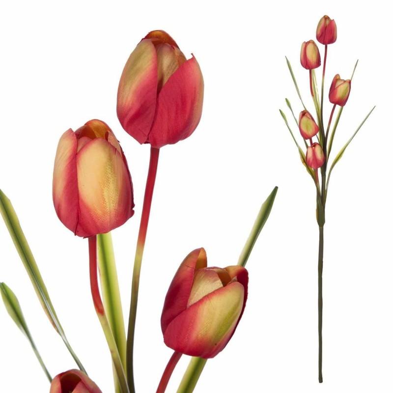Rama tulipanes artificiales rojos 97 · Flores artificiales