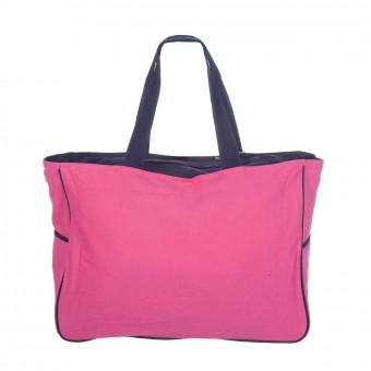 Bolsas de playa · Bolsa playa palmera cremallera rosa XL 4 · La Llimona home