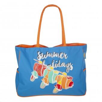 Bolsas de playa · Bolsa playa vespa cremallera azul XL · La Llimona home