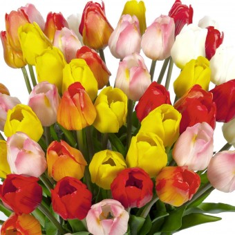 Flor túlipan artificial rosa 4 · Flores artificiales