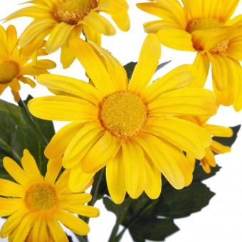 Flores y plantas artificiales - Rama margaritas artificiales amarillas 2