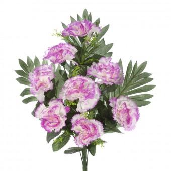 Ramos cementerio flores artificiales · Ramo claveles artificiales malva 42 · La Llimona home