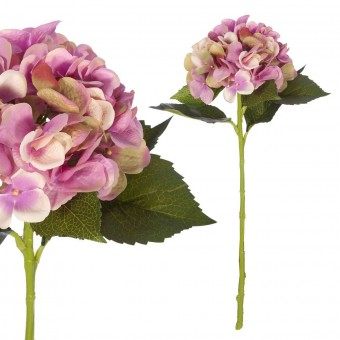 Flores artificiales - Hortensia artificial malva 54