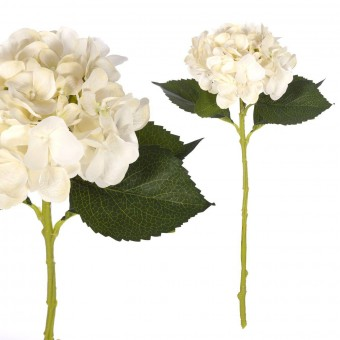 Flores artificiales - Hortensia artificial crema 54