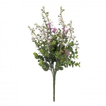 Ramo aucaliptus artificial flor blanca · Ramos flores artificiales 3