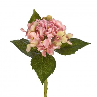 Flores artificiales - Hortensia artificial rosa 33