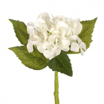Flores artificiales - Hortensia artificial crema 33