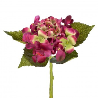 Flores artificiales - Hortensia artificial cereza 33