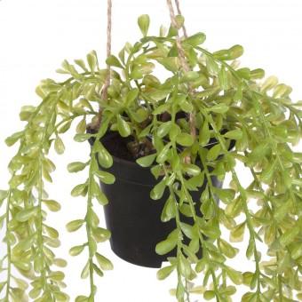 Plantas colgantes artificiales - Mil hojas colgante verde artificial 3