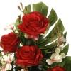 Ramo flores artificiales rosas rojas 60 - Funerario - Ramos flores artificiales 2