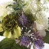 Ramo scabiosas artificiales blancas con flores silvestres - Ramos flores artificiales 3