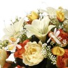 Ramo rosas, ranúnculos y liliums artificiales naranja - Ramos flores artificiales 3
