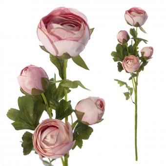 Rama peonías artificiales rosa 65 - Flores artificiales