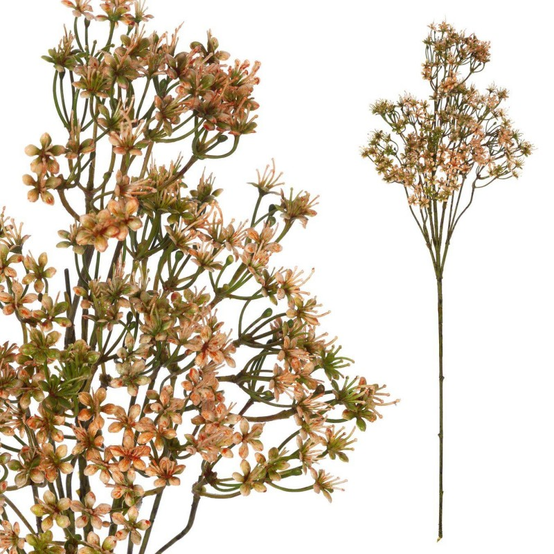 Rama gypsophila muralis artificial salmón - Rellenos artificiales para plantas y flores