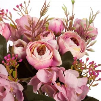 Ramo crocus y hortensias artificiales malva - Ramos flores artificiales 2