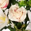 Ramo rosas artificiales bicolor y liliums blancos · Funerario · Ramos flores artificiales · La Llimona home