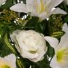 Ramo peonías artificiales blancas y liliums blancos - Funerario - Ramos flores artificiales 2