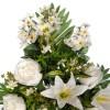Ramo peonías artificiales blancas y liliums blancos - Funerario - Ramos flores artificiales 4